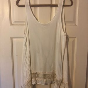 White tank with lace bottom